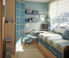 blau und ockra farbe für kinderzimmer - Kinderzimmer Einrichtung – 29 auffällige Ideen