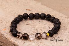 New Fancy2Classy Bracelet! Check it out now!!! Space Galaxy: Black White Tourmaline Bracelet by Vintage2Classy
