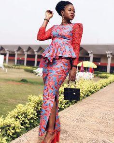 Look de fêtes 1 sapé comme jamais en Wax African Fashion Ankara, African Fashion Designers, Ghanaian Fashion, Latest African Fashion Dresses, African Print Dresses, African Print Fashion, African Dress, African Prints, Ankara Short Gown Styles