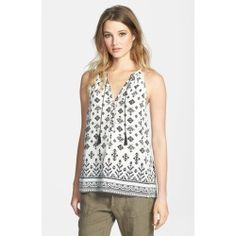 Joie 'Eniko' Border Print Silk Tank - product - Product Review