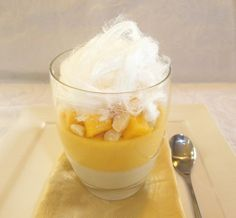 """Mango Coconut Parfait - This is a beautiful light Summer dessert. Perfect for that """"wow"""" factor at your next dinner party"""