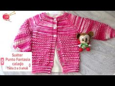 Suéter Punto Fantasía Calado - 2 a 3 años DOS AGUJAS - YouTube Youtube, Fantasy, Knitting For Kids, 3 Years, Nice Dresses, Sweaters, Fashion, Nightgown, Knitting And Crocheting