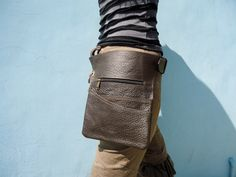 Leather Utility Belt Bag Hip Bag with Pockets Waitress Belt in Brown FREE SHIPPING by leilamos on Etsy https://www.etsy.com/listing/127363754/leather-utility-belt-bag-hip-bag-with