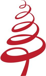 I think I'm in love with this shape from the Silhouette Design Store! - Swirly Ribbon Christmas Tree