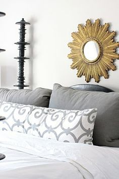i just adore all the grey with that dash of gold...perfect