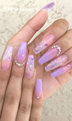 Cute Acrylic Nails 811562795334999841 - Awesome New Year Best Ombre Nail Ideas . - Cute Acrylic Nails 811562795334999841 – Awesome New Year Best Ombre Nail Ideas for 2020 – Page - Purple Ombre Nails, Coffin Nails Ombre, Purple Acrylic Nails, Clear Acrylic Nails, Acrylic Nails Coffin Short, Ombre Hair, How To Ombre Nails, Acrylic Summer Nails Beach, Ombre Nail Art