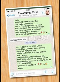 Whatsapp Einladung Geburtstag Vorlagen Pozivnica Pinterest