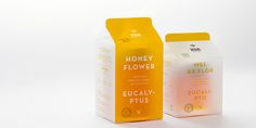 Very original packaging for Zee Honey Goods, as designed by gen design studio. I really like the translucent carton.