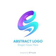 Modelo de logotipo com formas abstratas Business Card Mock Up, Business Logo, Logo Abstrait, Share Logo, Plant Logos, Globe Logo, Slogan Design, Affinity Designer, Floral Logo