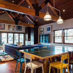 Woodside Ave. Project | #woodsideaveproject #parkcity #interiordesign #moderndesign #residentialdesign #remodel #newconstruction #mountainmodern #design #home #modernhouse #diningroom #pingpongtable #modernliving #areadesignllc #ohwowyes #interiorlovers #instahome #homedecor #abmlifeiscolorful #candyminimal #popyacolor #bandofun  #mycreativebiz #myunicornlife #colorhunters #colorsplurge #dscolor #theeverydaygirl