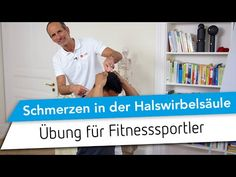 Schmerzen in der Halswirbelsäule // Was tun bei HWS-Schmerzen beim Krafttraining, Fitness Training - YouTube