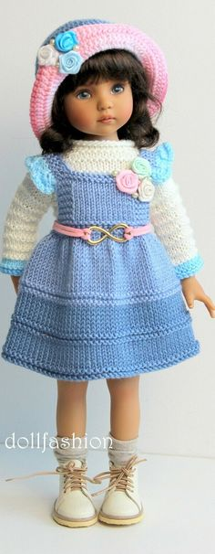 Jacket and Dress for Dolls. №041 Handmade Doll Clothes