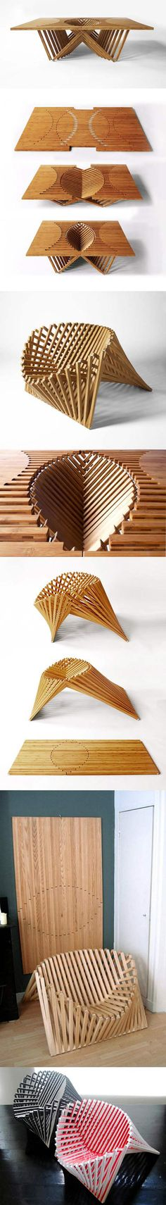 Rising Table and Chair.