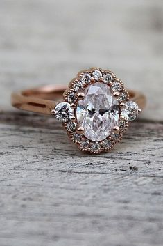 Engagement Ring That Was Created For A Special Bride ❤️ engagement ring rose gold oval halo vintage ❤️ See more: http://www.weddingforward.com/engagement-ring/ #wedding #bride #engagementrings