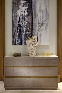 Chelsea, London | Luxury Interior Design| Entrance Hall | Cabinet