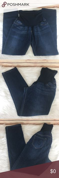 """✨ Indigo Blue maternity jeans ✨Newly listed items are priced to move.. please help me clear out my actual closet 😉 Brand: Indigo Blue Size: M (maternity) Type: dark denim wash, straight leg style Details: four functioning pockets Waist measurement: 16.5"""" across  Inseam: 31.5"""" Length: 36"""" Condition: preloved, excellent  Other: this item does not fit me, sorry I cannot model ✨Build a bundle with all your likes and use the automatic bundle discount -or- make me a bundle offer✨ Indigo Blue…"""