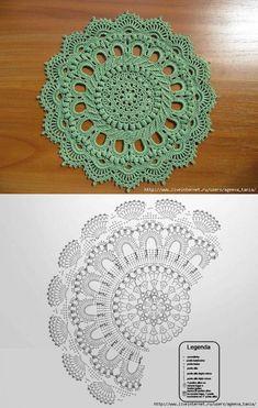Crochet Doily Rug, Crochet Placemats, Crochet Carpet, Crochet Dollies, Crochet Doily Patterns, Crochet Diagram, Thread Crochet, Crochet Designs, Crochet Stitches