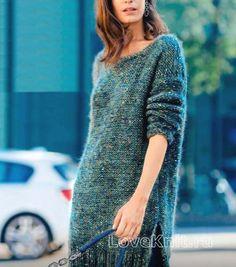Спицами теплое платье с открытой спиной фото к описанию