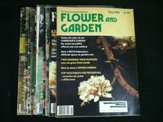 Vintage Flower and Garden Magazines Lot 10 1980 1982 1983 1984 87 88 Back Issues