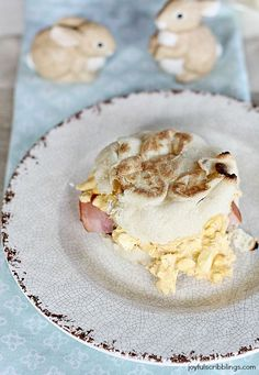 Ham and Deviled Egg Breakfast Sandwiches #breakfast #eggs