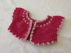 How to crochet a baby bobble bolero / cardigan - YouTube