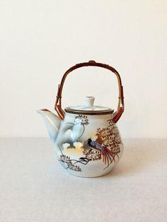Vintage Teekanne, Asia Kanne, Keramik Teekanne, Kanne mit Teesieb, Mid Century Keramik von moovi auf Etsy