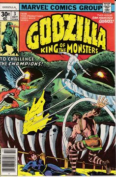 Godzilla 3 October 1977 Issue Marvel Comics Grade by ViewObscura