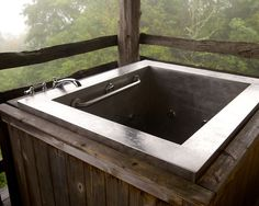 """Stainless Steel Japanese Bath with Grab Bar 36"""" x 48"""" x 32"""""""