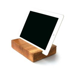 "Wood iPad Tablet Stand from the Wisconsin State Capitol Square \ Red Oak \ 7 1/8"" x 5 5/8"" \ Live Edge $45"