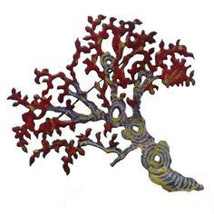 Emily Knight  'Acer Tree' brooch in hand pierced enamelled copper