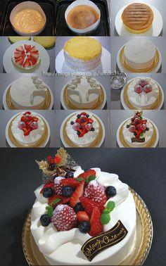 新年のデコレーションケーキ2010・レシピ の画像|ちょっとの工夫でかわいいケーキ