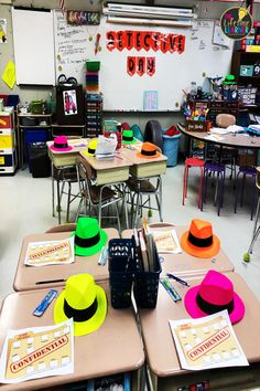 This detective classroom transformation is made for or graders to practice fraction. 3rd Grade Classroom, 4th Grade Math, Classroom Setup, Classroom Design, Preschool Classroom, Future Classroom, Teaching Fractions, Comparing Fractions, Equivalent Fractions
