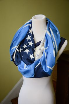 infinity scarf made from vintage scarves #DIY