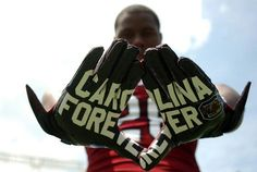 2013 Gamecock football gloves