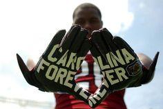2013 Gamecock football gloves