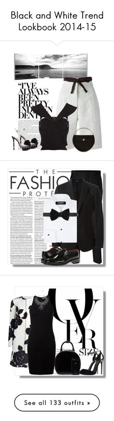 """Black and White Trend Lookbook 2014-15"" by yours-styling-best-friend ❤ liked on Polyvore"
