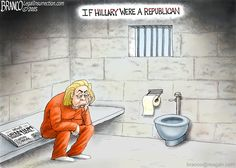 Cartoon By A.F. Branco Hillary jail time could be possible, but only if she were a Republican. Description from barbwire.com. I searched for this on bing.com/images