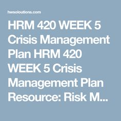 Hrm  W Contingency Plan Evaluation Appendix B Resource