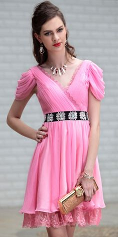 short prom dress pink short prom dress with sleeves