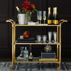 Williams Sonoma Home sells several gorgeous bar carts