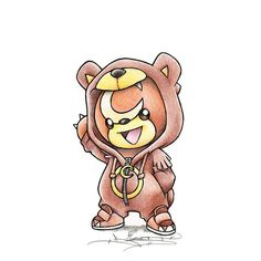 Teddiursa in Ursaring onesie by itsbirdy, pokemon Baby Pokemon, Pokemon Pins, Pokemon Fan Art, Cosplay Pokemon, Pokemon Tattoo, Cr7 Jr, Pokemon Mignon, Photo Pokémon, Pokemon Sketch