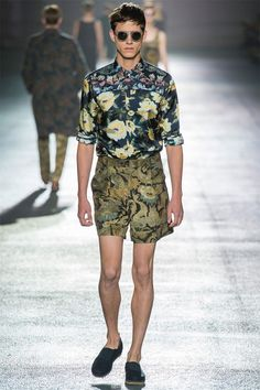 http://trendland.com/dries-van-noten-ss-2014/ ,accessed 1/7/13,  Dries Van Noten Spring/ Summer 2014 recently made its debut during Paris Fashion Week.The collection featured dark botanical flowers, mixed together in an interesting combination of patterns. Dries Van Noten has changed things up with embroidery track numbers in thick jacquard weaves and kitsch inspired fabrics. The sports techno inspiration carries through the collection.