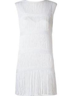 tricot fringes layered dress