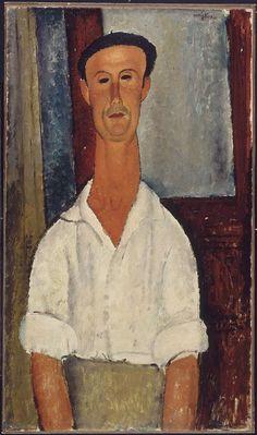 Amedeo Modigliani, Gaston Modot, 1918. Olio su tela montata su legno, cm. 92,5 x 53,6. Centre Pompidou, Parigi