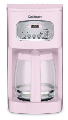 Cuisinart Pink 12-Cup Programmable Coffeemaker Automatic Self Clean Filter #Cuisinart