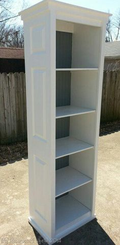 Bi-fold closet doors into great bookcase!