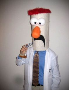 How to Make a Beaker Costume: 13 Steps (with Pictures) Game Costumes, Diy Costumes, Adult Costumes, Holidays Halloween, Halloween Party, Halloween Ideas, Halloween 2018, Olaf Halloween Costume, Great Costume Ideas