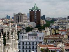 Vistas de Madrid  desde la terraza del Ayuntamiento