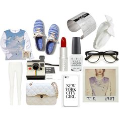 Already got Polaroid camera, headband, nail polish, lipstick, and my glasses look Almost EXACTLY like those ones!!!