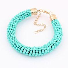 Pulsera de perlas de vidri http://www.beads.us/es/producto/Rocallas-de-vidrio-Pulsera_p184861.html?Utm_rid=163955